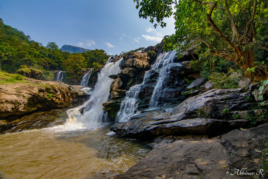 Thoovanam Waterfalls at Chinnar Wildlife Sanctuary near Marayoor