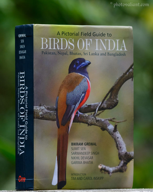 Cover page - A Pictorial Field Guide to Birds of India by Bikram Grewal