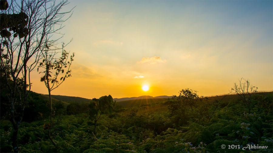 Sunset views from Vagamon