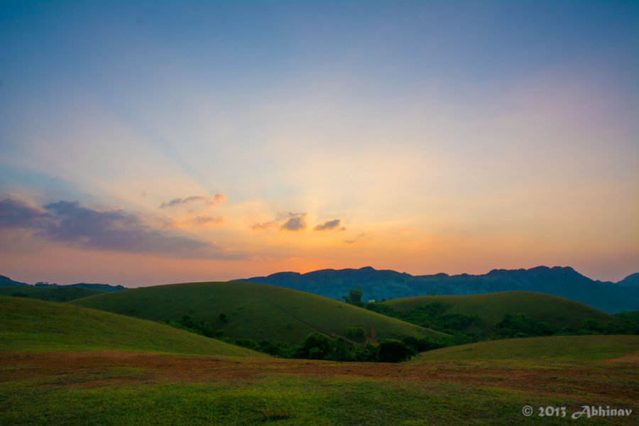 Sunset view from Vagamon